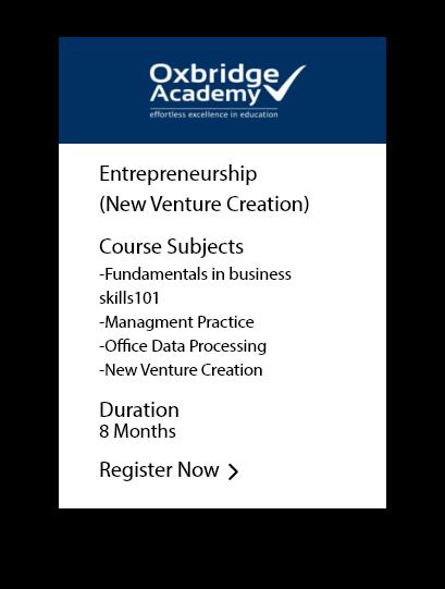 Entreprenuership (New Venture Creation)