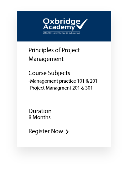 Principles Of Project Managment